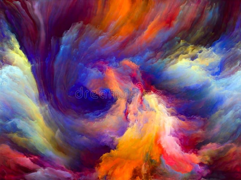 Más allá del movimiento del color ilustración del vector