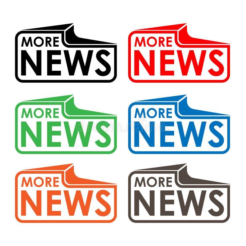 Más etiqueta común de las noticias, diseño plano Icono colorido ilustración del vector