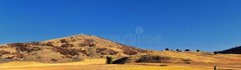 Más viejas opiniones del paisaje del barranco de caja, conocidas popular como barranco de la sardina, al norte de Brigham City de foto de archivo libre de regalías
