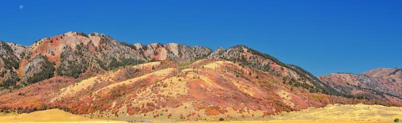Más viejas opiniones del paisaje del barranco de caja, conocidas popular como barranco de la sardina, al norte de Brigham City de imagen de archivo libre de regalías
