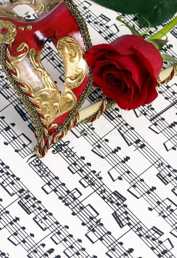 Máscara 2 da música fotos de stock royalty free