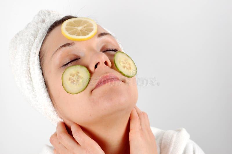 Máscara #4 da fruta fotos de stock