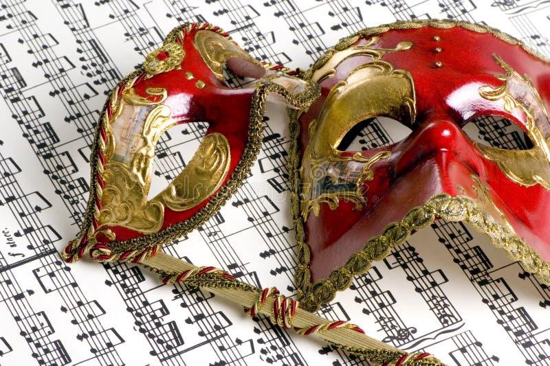 Máscara 4 da música fotografia de stock royalty free
