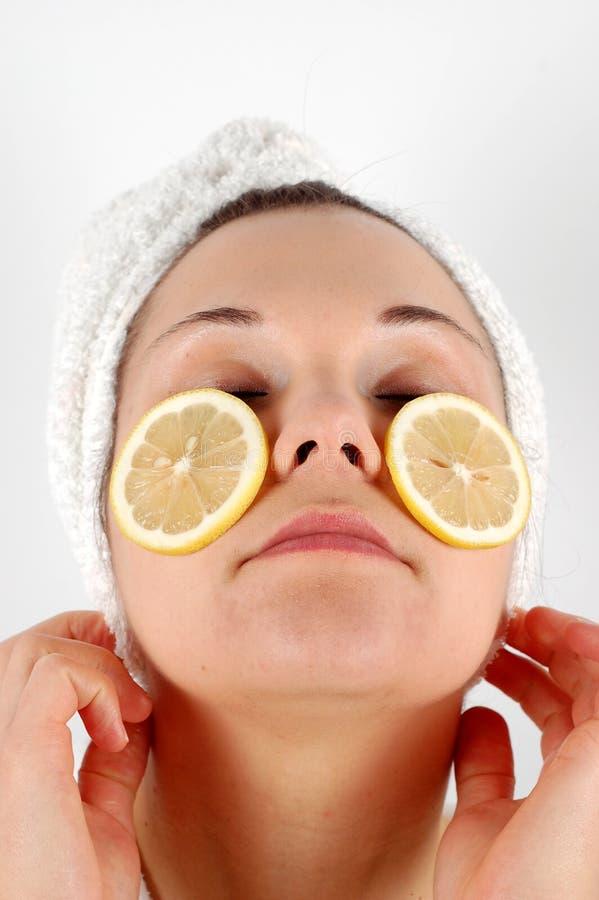 Máscara #8 da fruta fotografia de stock