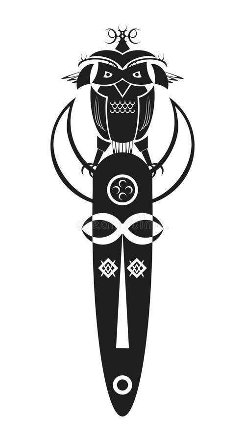 Máscara africana ilustração stock