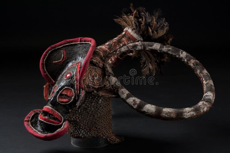 Máscara africana do pano, tradicional fotos de stock
