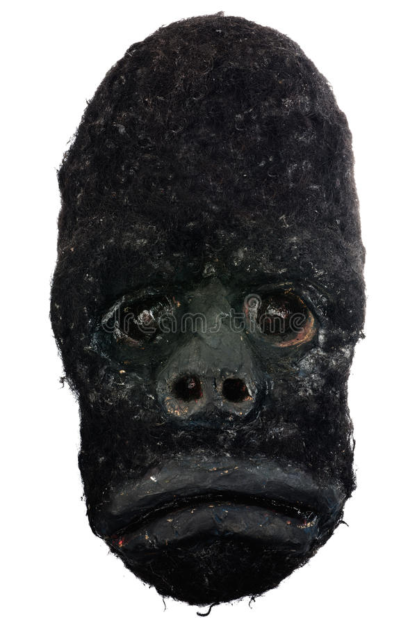 Máscara africana tallada madera del gorila foto de archivo