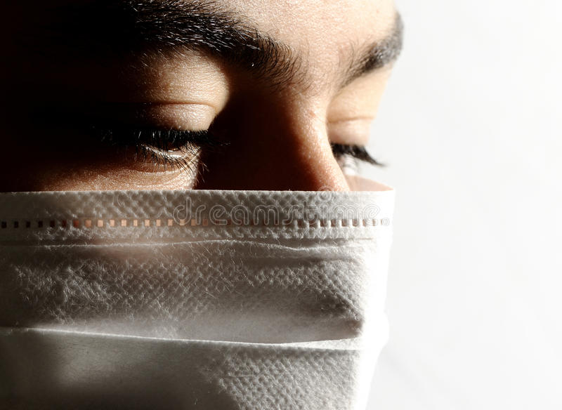 Máscara aislada del virus imagen de archivo libre de regalías
