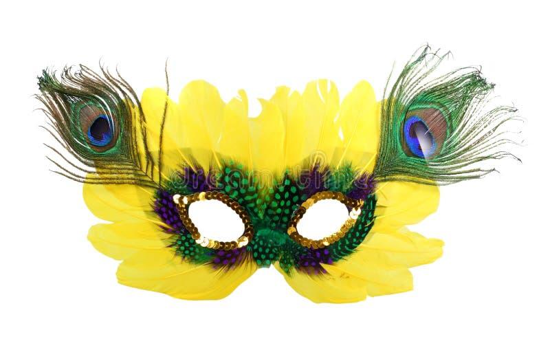 Máscara amarela imagem de stock royalty free