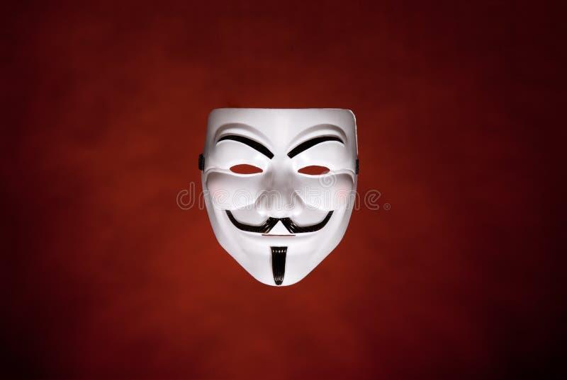Máscara anónima (máscara de Fawkes del individuo) foto de archivo libre de regalías
