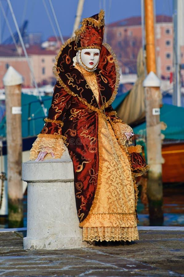Máscara anaranjada hermosa fotografía de archivo libre de regalías