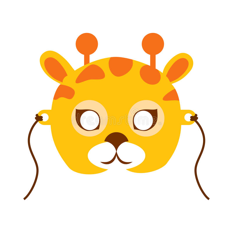 Máscara animal do carnaval do girafa Disfarce criançola ilustração royalty free