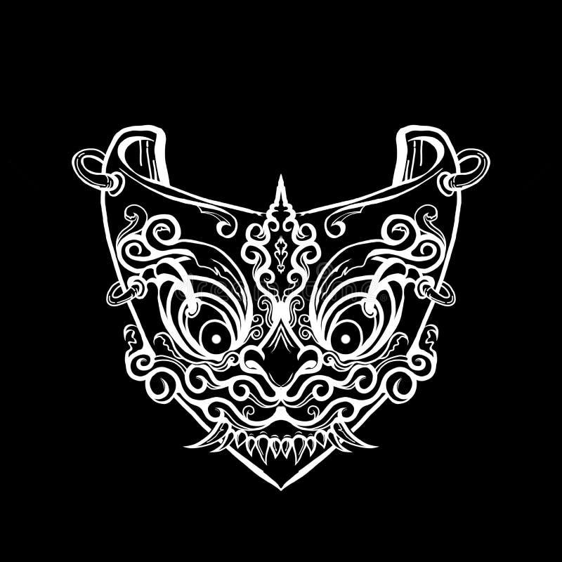 Máscara antigua del demonio libre illustration
