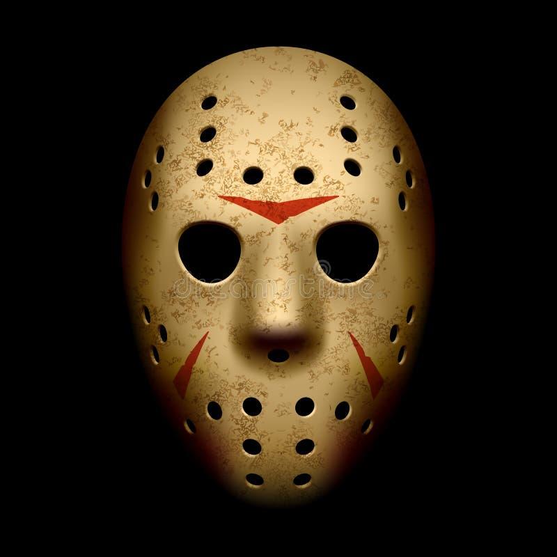 Máscara asustadiza del hockey ilustración del vector