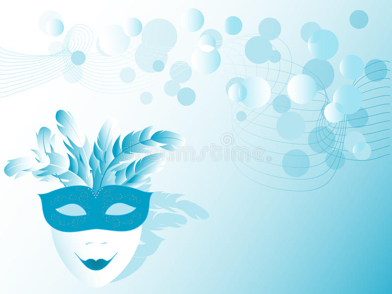 Máscara azul stock de ilustración