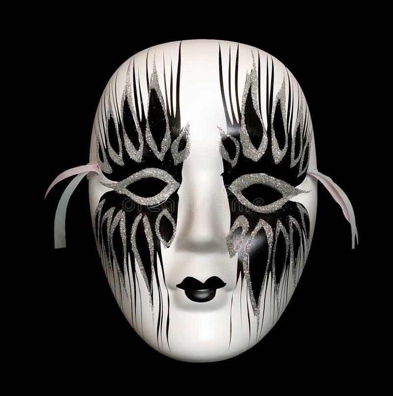 Máscara blanco y negro fotos de archivo