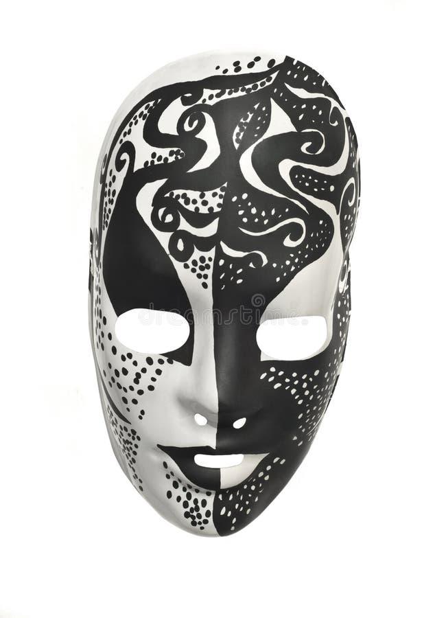 Máscara blanco y negro fotografía de archivo libre de regalías