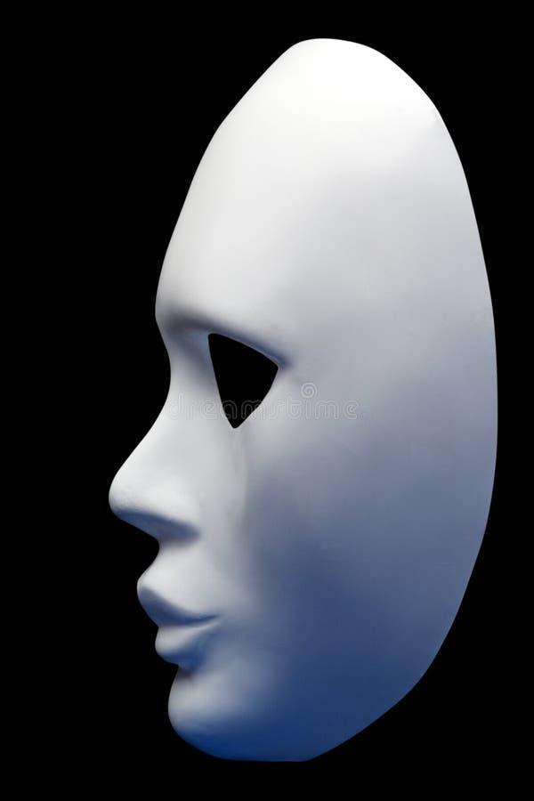 Máscara branca fotos de stock