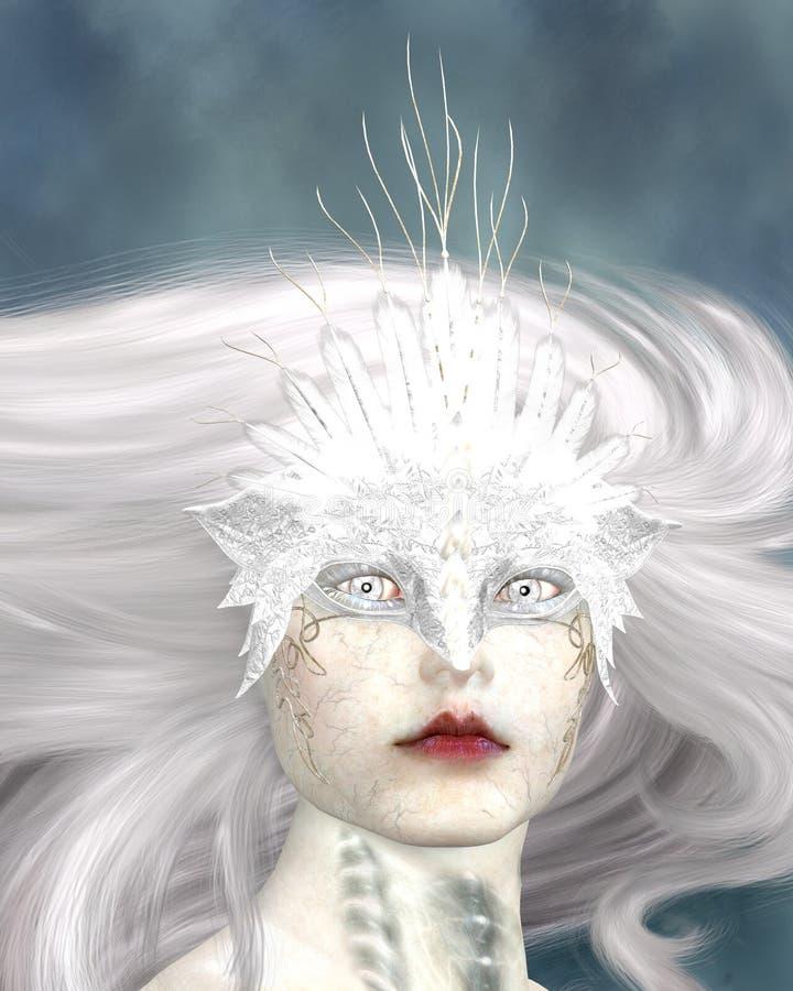 Máscara branca ilustração do vetor