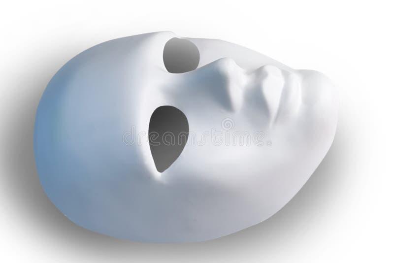 Máscara branca, trajeto conservado imagem de stock royalty free