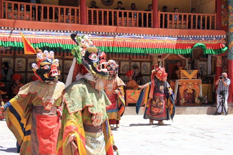 Máscara budista dancer-6 fotos de archivo libres de regalías