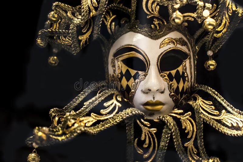 Máscara carnaval venetian tradicional fotos de stock royalty free