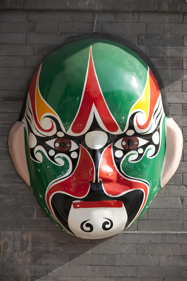 Máscara china imagenes de archivo