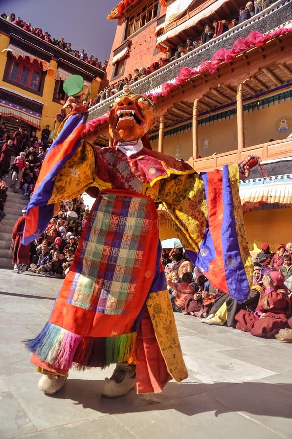 Máscara colorida en Ladakh foto de archivo