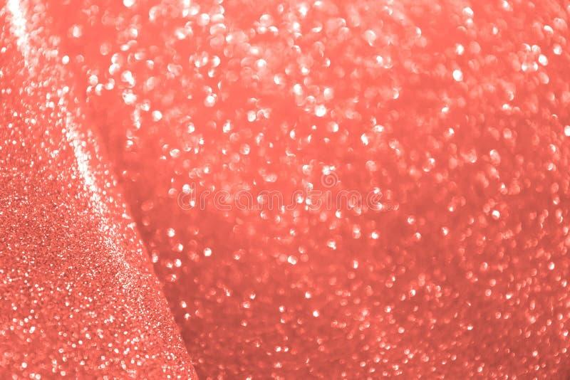 Máscara coral viva Tendências da cor de Pantone da estação Mola imagem de stock