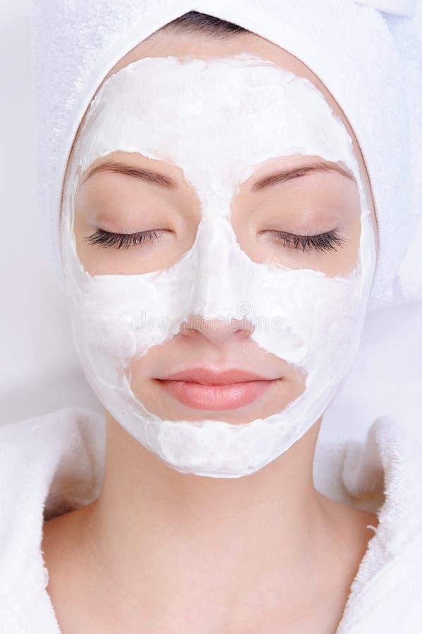 Máscara cosmética da argila imagem de stock royalty free