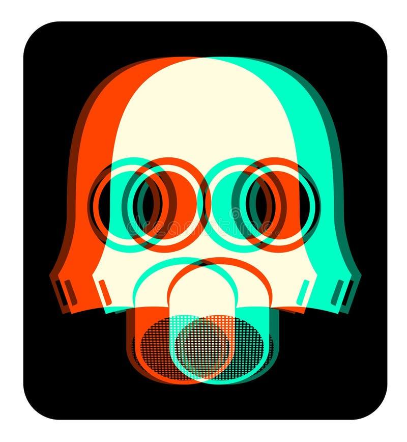 Máscara creativa ilustração stock