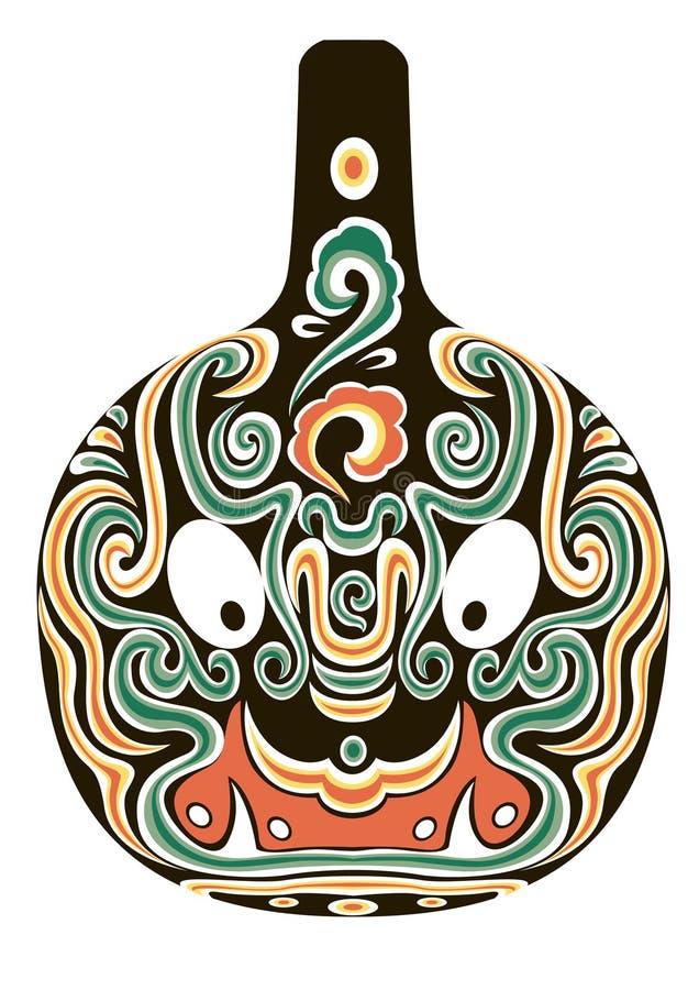 Máscara da ópera de Beijing ilustração do vetor