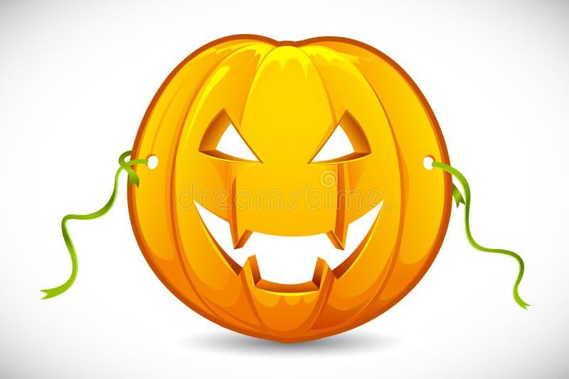 Máscara da abóbora de Halloween ilustração stock