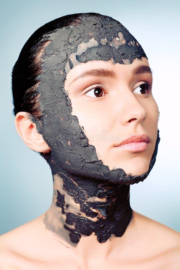 Máscara da argila imagens de stock