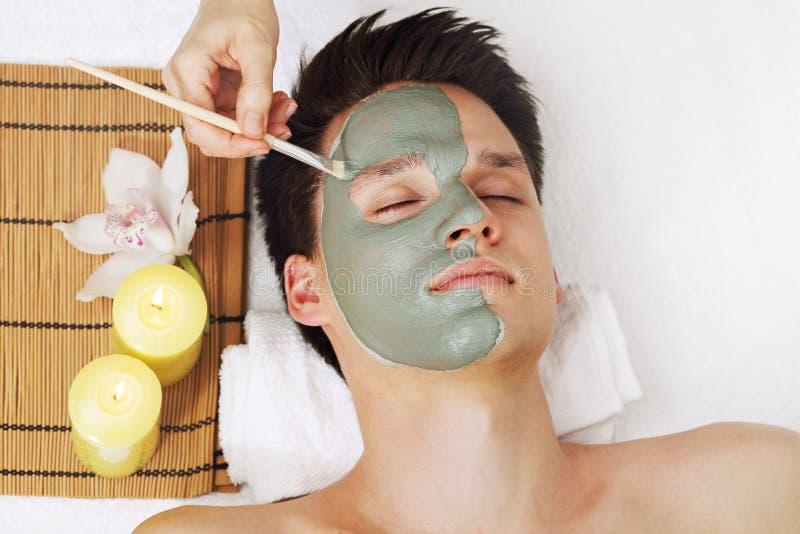 A máscara da argila azul foto de stock royalty free