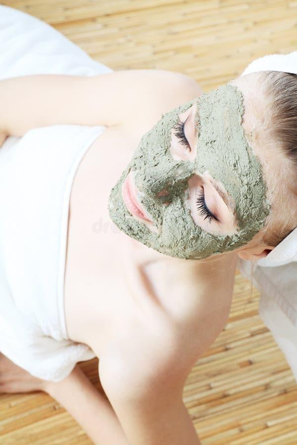 Máscara da beleza fotografia de stock