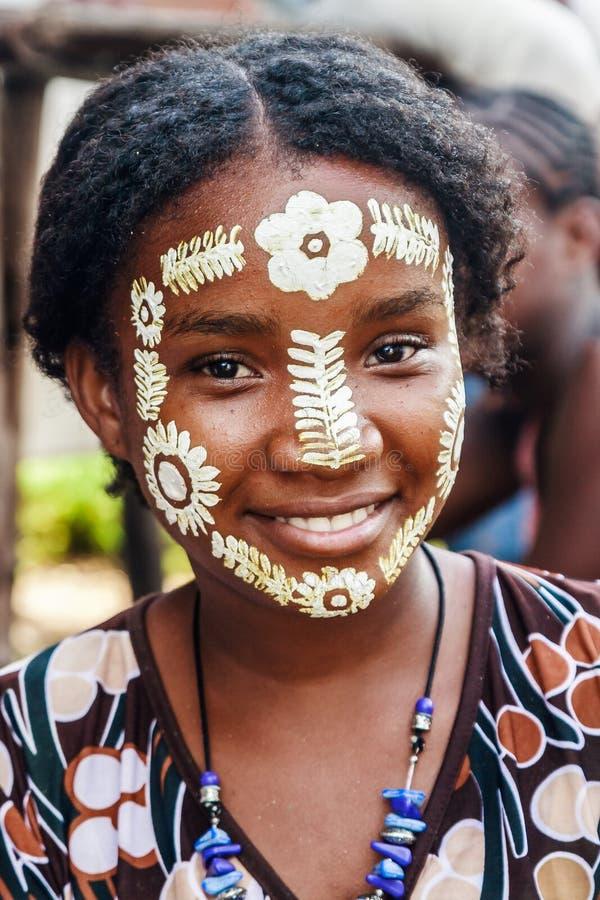 Máscara da beleza de Sakalava fotografia de stock royalty free