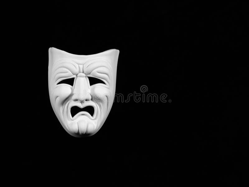 Máscara da tragédia do teatro fotos de stock royalty free
