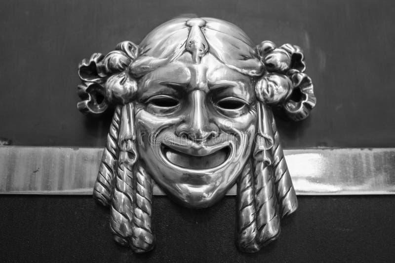 Máscara de bronze fotografia de stock
