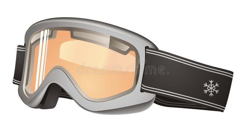 Máscara de esquí ilustración del vector