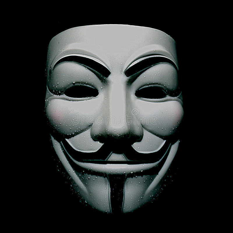 Máscara de fawkes do indivíduo dos ativistas imagens de stock royalty free