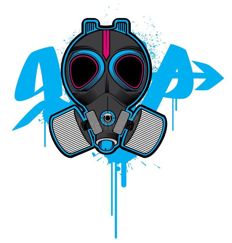 Máscara de gás ilustração do vetor