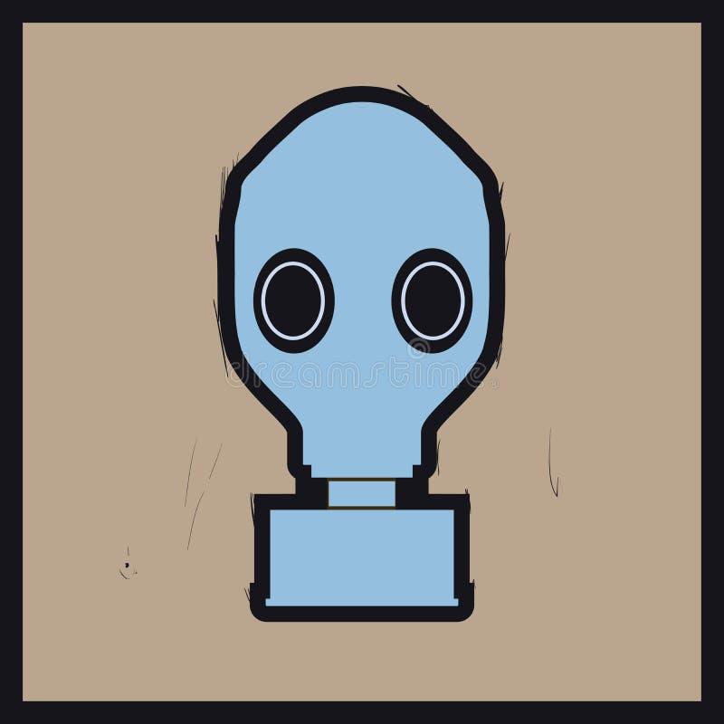 Máscara de gás ilustração stock