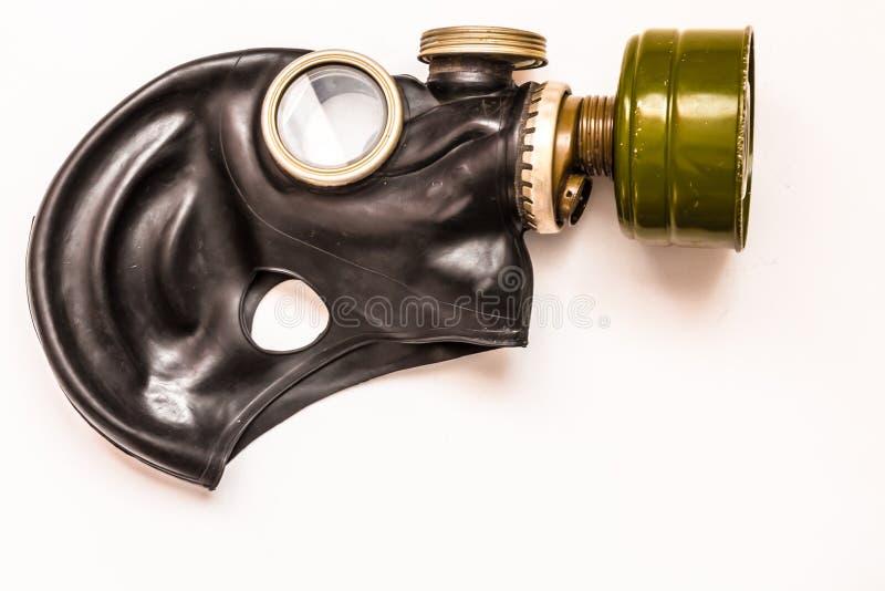 Máscara de gás no fundo branco fotografia de stock royalty free