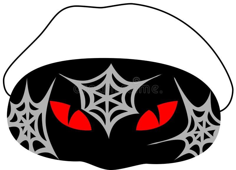 Máscara de Halloween ilustração stock