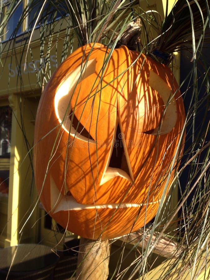 Máscara de la calabaza de Halloween fotografía de archivo