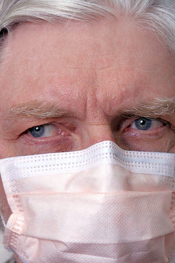 Máscara de la gripe imagen de archivo