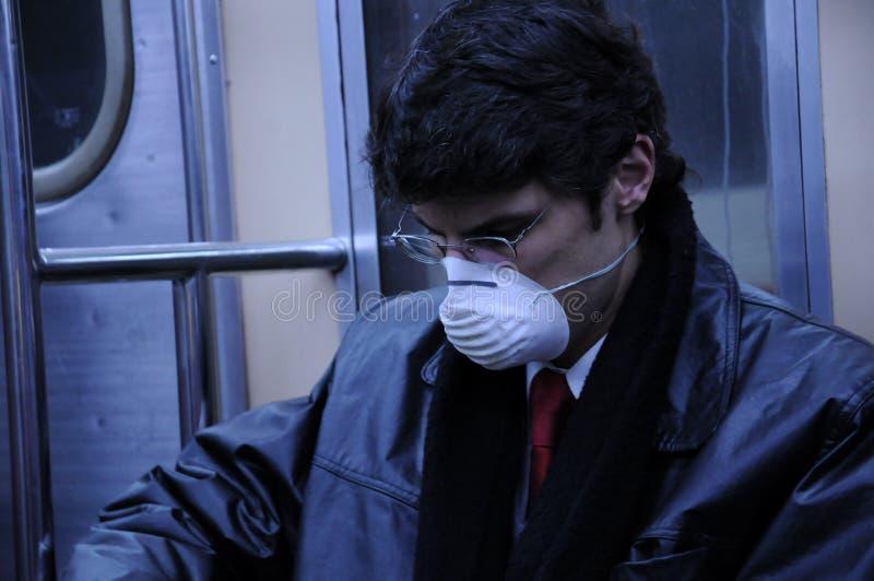 Máscara de la gripe foto de archivo