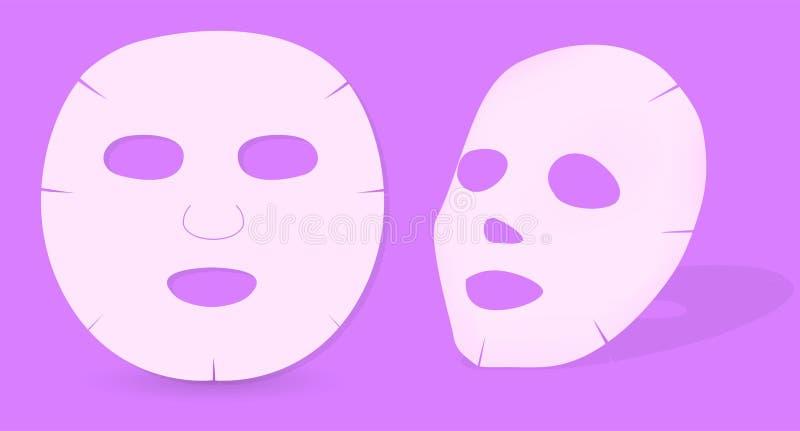 Máscara de la piel ilustración del vector