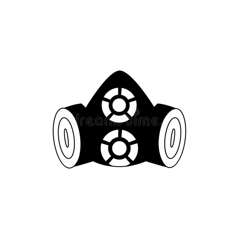 Máscara de la seguridad para la protección del trabajador ilustración del vector